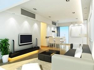 הנמכת תקרה בסלון